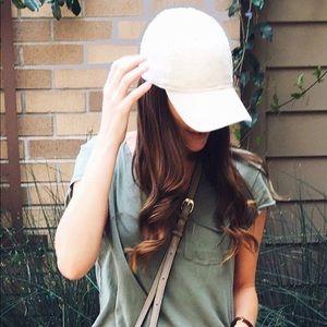 Accessories - White baseball women's hat